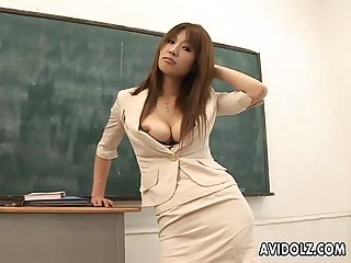 Hot busty ai kurosawa dirty teacher with huge tits