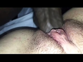 Close up of my black cock sliding in Aerione?s pussy until I cum on her clit