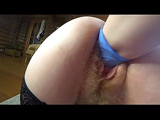 Deep fisting in hairy pussy. Mature lesbian in a medical glove fucked a fat milf..