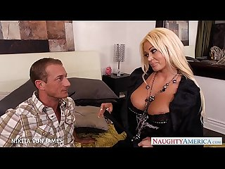 Platinum blonde nikita von james ride A big cock