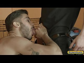 Tony blowjob darius and gets anal fuck