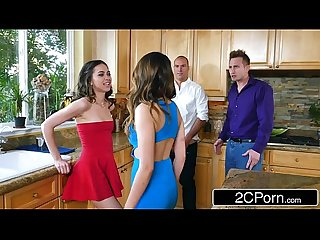 Whoring Wives Melissa Moore & Riley Reid Swap Husbands at Dinner Party