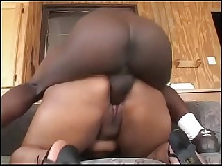 Big black cock inside a big black ass