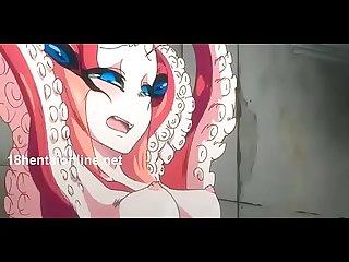 Follando una linda mujer pulpo hentai