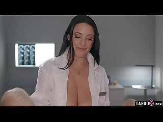 Huge tits doctor Angela White gives him a physical exam