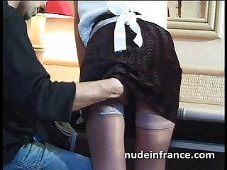 Amateur french maid analyzed with cum 2 mouth