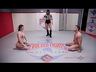 Lydia Black nude wrestling and fuck session