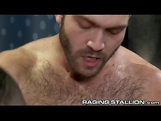 RagingStallion Hot Horny Sweaty Hairy Men Rough Anal Pounding