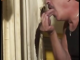 Hot guy with MONSTER COCK at gloryhole