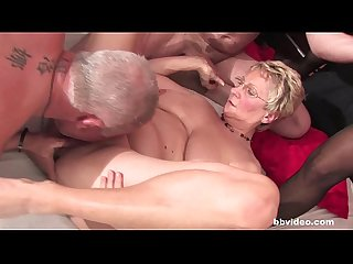 Bbvideo period com chesty german grannies fucks in foursome