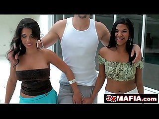 8th street latinas zasha Alexis rain sucking balls licking stroking cock