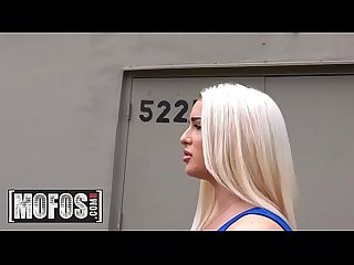 Publick pickups mila marx curvy blonde rides dick in garage mofos
