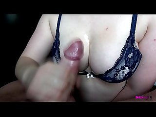Big Oily Tits and Oily Cock - A Simple Handjob