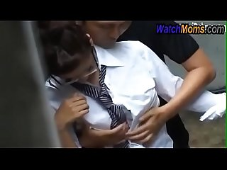 School girl fuck with slum man