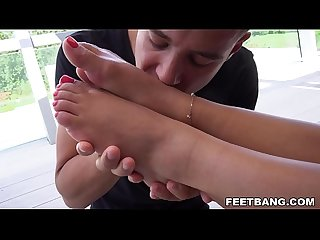 Liv Revamped footjob and anal sex