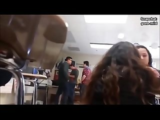 Hidden cam in college school teen ass