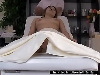 Voyeur massage video with my dick plugging an asian yum yum