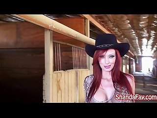 Kinky cowgirl shanda fay fucks in the barn