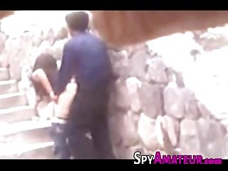Spying a young Mexican couple having outdoor sex on spyamateur com