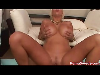 Euro blonde puma swede gets big dick poolside