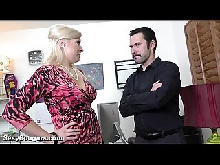 Hot milf boss likes it rough