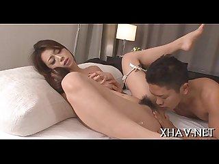 Bushy oriental hardcore sex