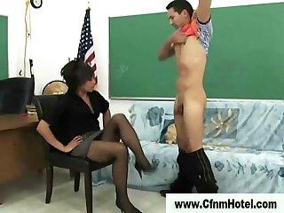 Asian femdom spanking