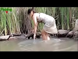 Asian girl hot fishing nude