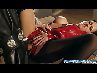 Squirting bigtitted skank pounded in ass