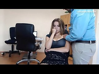 Hungarian slut caught masturbating at work
