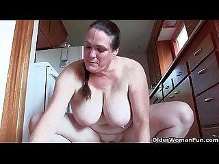 Grandma's masturbation feast