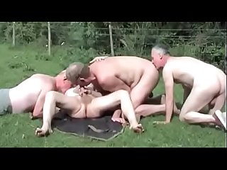 Old men outdoor fun