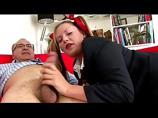 Older british guy fucked by slut in pigtails