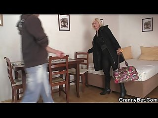 Doggy-fucking old blonde woman