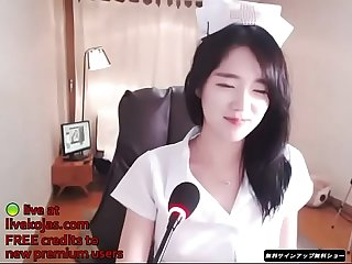 Korean bj in nurse uniform live at livekojas com