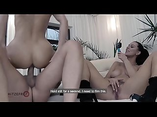 Hitzefrei texas patti and aby action take turns on a big cock