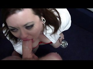 Bbw giving a deepthroat blowjob with a facial then the cum pissed off bbw