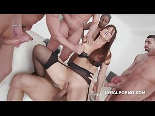 Unbelievable 7on1 balls deep Anal dap Gangbang with syren de mer