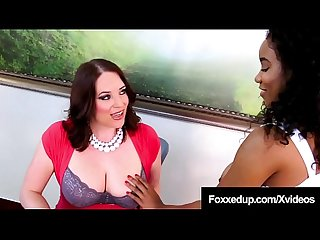 Young Black School Girl Jenna Foxx Sits On Teacher's Face!