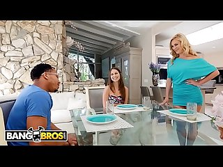 BANGBROS - Stepmom Cherie Deville Fucks Riley Reid's Black Boyfriend, Ricky Johnson