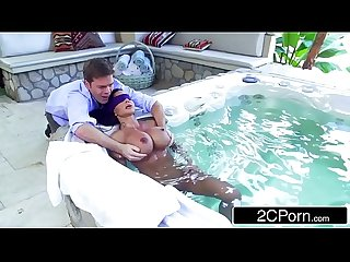 Jewels Jade Gets Pounded By Son's Friend In The Jacuzzi