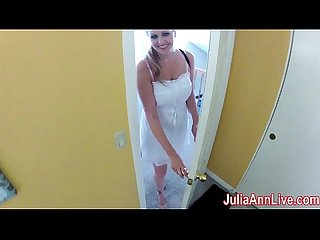 Nurse Julia Ann visits for an oral exam excl