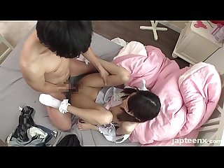 Young japanese student spreading her slim legs to get fucked japteenx com