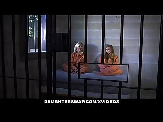 Daughterswap daughter father duo ava parker and summer day fuck in prison cell