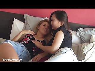 Hot lesbian mary kalisy having fun with asian teen