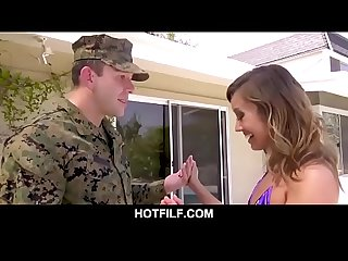 Asian mom fucks her Big dick stepson back from military hotfilf period com