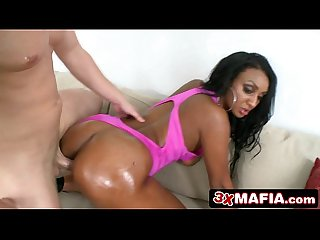 Ebony 19 year old adrianna knight sucking fucking that cock like a goddess