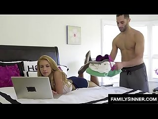 Teen sister seduce her stepbrother in this family Sex Video
