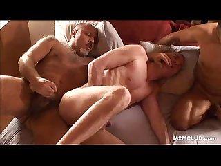 Mature bareback orgy