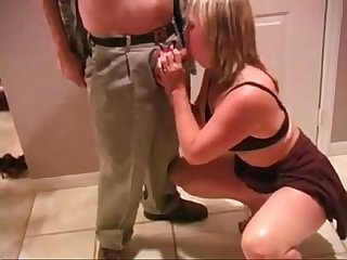 Cuckold video of mature wife sucking cock of husbands buddy